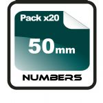 5cm (50mm) Race Numbers - 20 pack